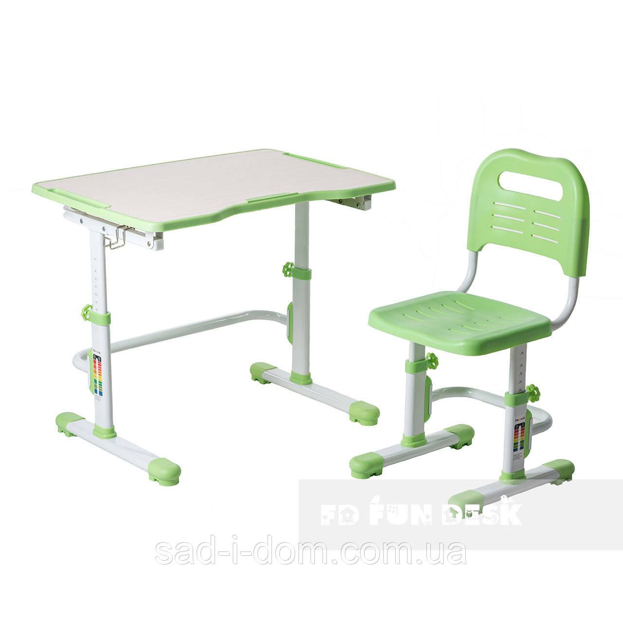Комплект парта + стул трансформеры Vivo II Green FUNDESK