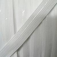 Резинка с силиконом  9мм, белый цвет, фото 1