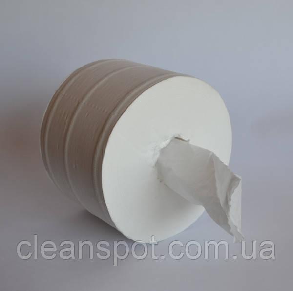 Туалетная бумага джамбо белая 2-шар 200 м с центральной вытяжкой Eco Point