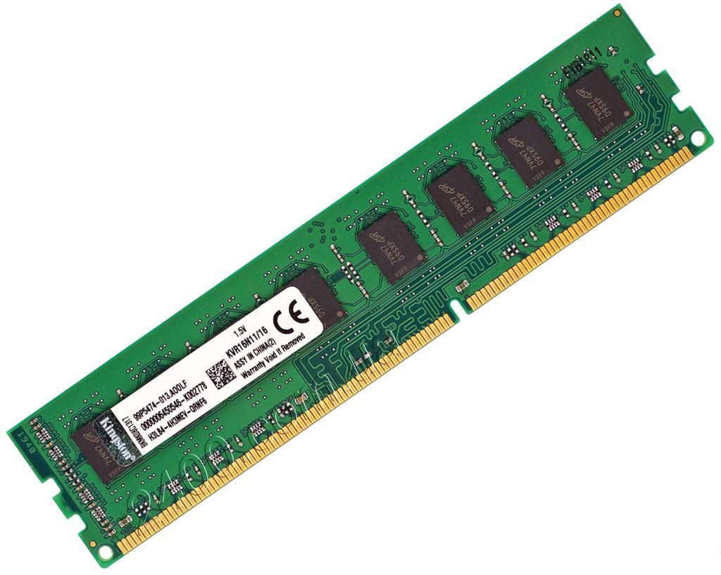 DDR3 16Gb 1600MHz оперативна пам'ять (ДДР3 16Гб) PC3-12800 для AMD Soket AM3/FM1/FM2 KVR16N11/16 однієї