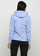 Худи женский с капюшоном, цвет голубой, фото 3