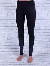 Лосины, Леггинсы женские с шлёвками для пояса (чёрный)