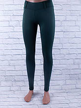Лосины, Леггинсы женские с шлёвками для пояса (зелёный)