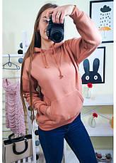 Женский свитшот с капюшоном на байке, фото 2