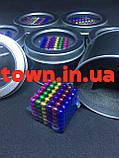 Конструктор-головоломка Neocube Веселка 216 неодимових кульок в боксі магнітний нео куб кольоровий 5мм, фото 4
