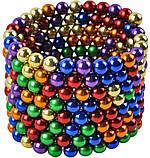 Конструктор-головоломка Neocube Веселка 216 неодимових кульок в боксі магнітний нео куб кольоровий 5мм, фото 9