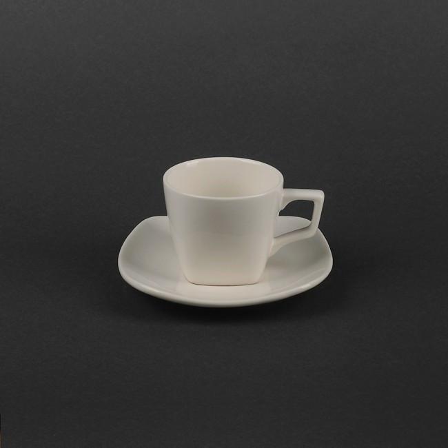 Чашка 80мл с квадратным блюдцем для эспрессо