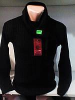 Мужской молодежный черный свитер 46-48 рр