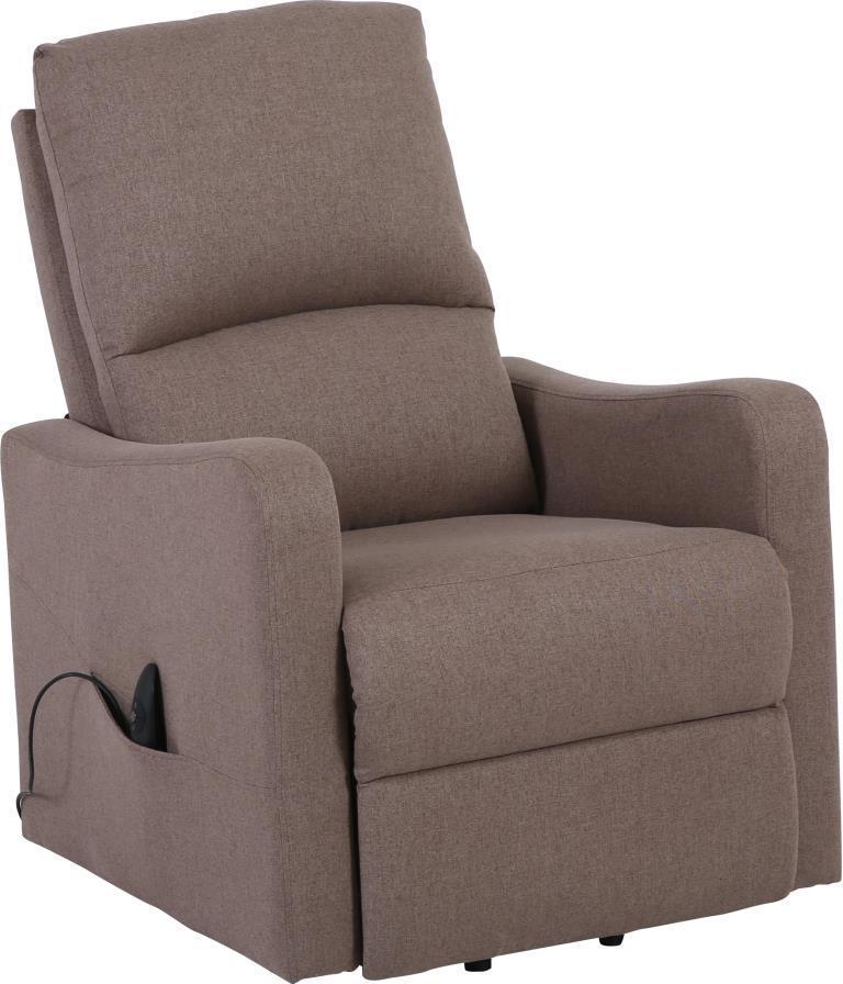 Кресло электро-реклайнер DM-02006 ткань тауп TM Bellini
