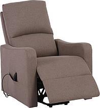 Кресло электро-реклайнер DM-02006 ткань тауп TM Bellini, фото 3