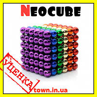 Конструктор головоломка Neocube Радуга 216 неодимовых шариков в боксе магнитный нео куб цветной 5мм, фото 1