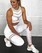 Женские лосины с широким поясом для спорта и фитнеса, фото 2