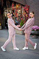 Вязаные костюмы детские для девочек (брюки и свитер)