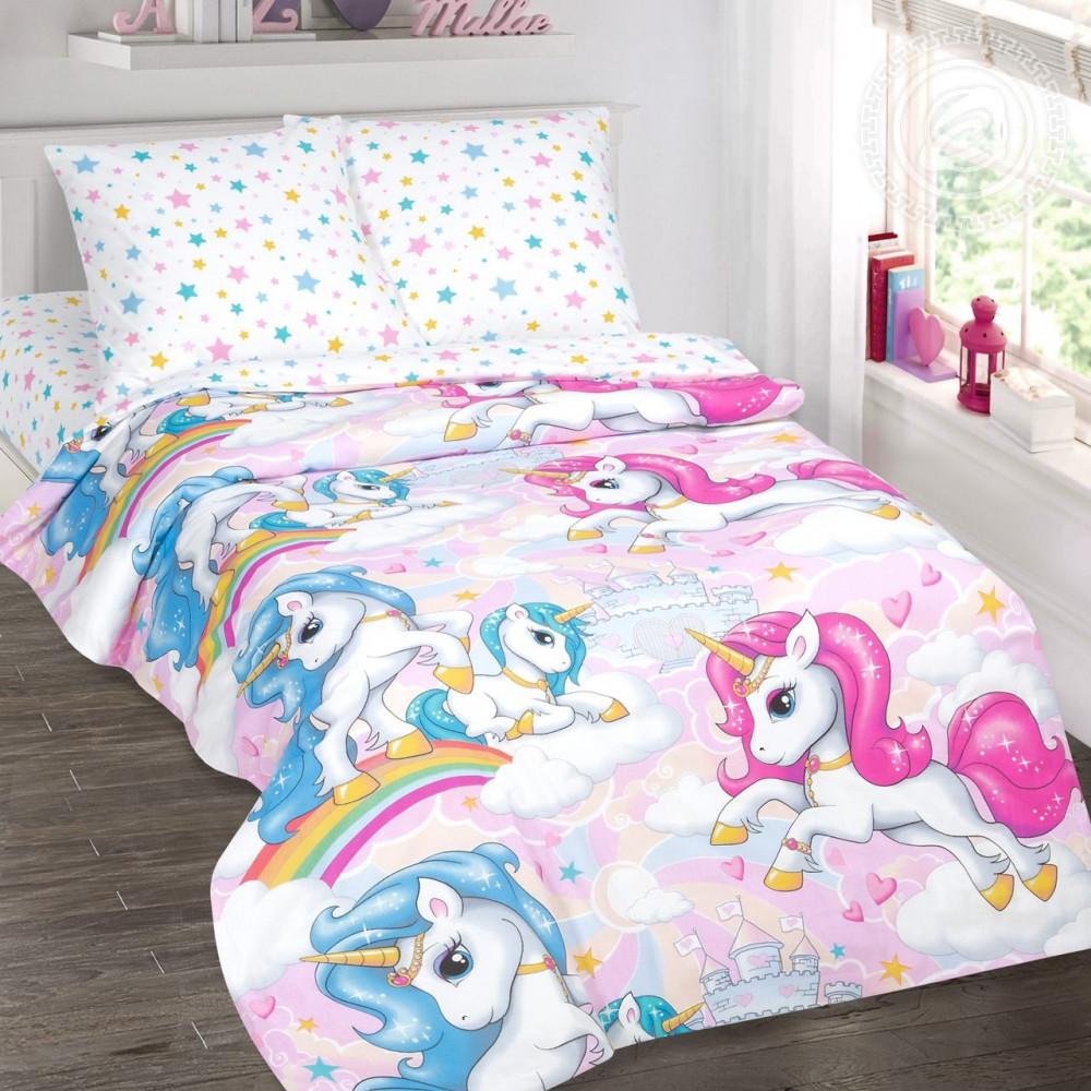 Постельное белье Карусельки поплин ТМ Комфорт текстиль  (в детскую кроватку)