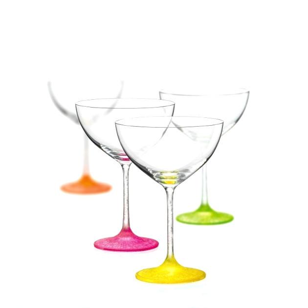 Набір бокалів для коктейлів 340 мл 4 шт Neon frozen Bohemia 40751/340S/D4896