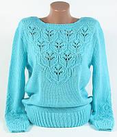 Джемпер Вязка голубой размер 48-50