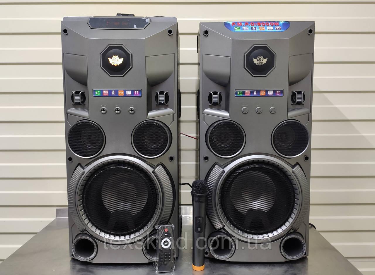 Комплект аткивной акустики с радиомикрофоном Rock Music RC-8950 (150W/FM/Bluetooth/USB)
