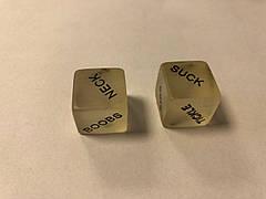 Кубики світяться камасутра. Кістки світяться камасутра. Кубики для еротичних ігор. Кубики для дорослих, фото 3