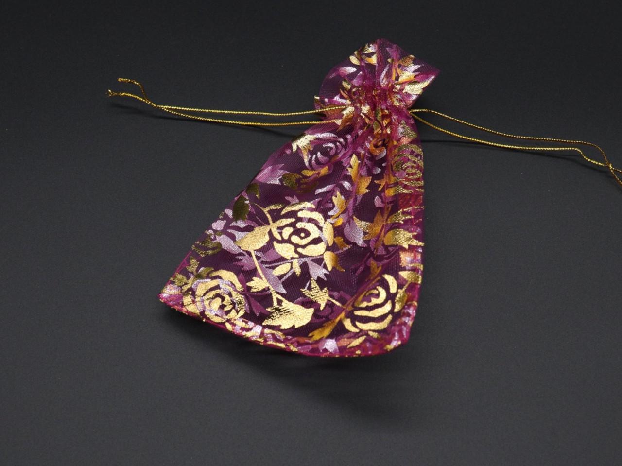 Подарочные мешочки из органзы. Цвет фиолет. 10х14см