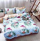 Комплект постельного белья Хлопковый Молодежный 057 M&M 5705 Синий, Зеленый, Розовый, фото 2
