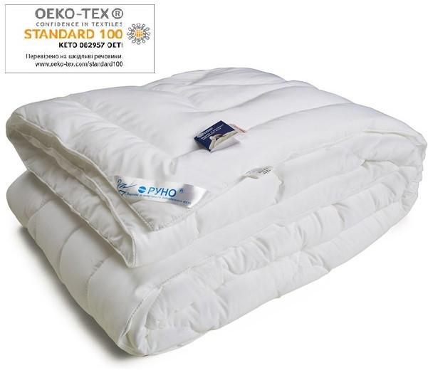 Одеяло Руно двуспальное евро 200x220 искусственный лебединый пух 420 г/м2 (322.52ЛПУ)