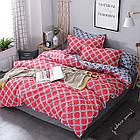 Комплект постельного белья Хлопковый Молодежный 059 M&M 5729 Синий, Красный, фото 2
