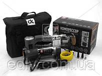 Компрессор, 12V, 7Атм, 30л/мин, фонарь, прикуриватель, кабель 3м, шланг 1м,