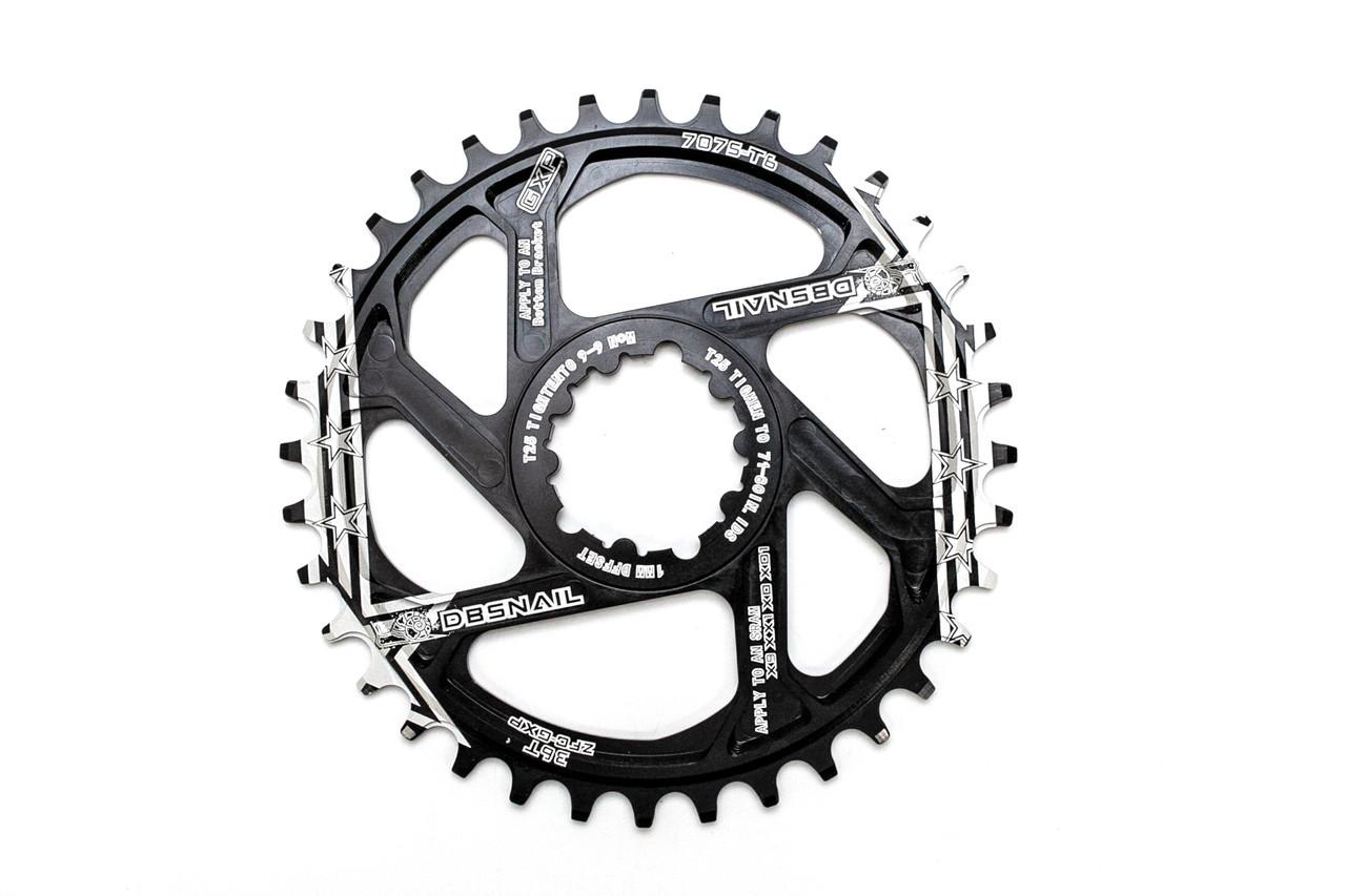 Велосипедная звезда-неспадайка к шатуну NW AL 38T GXP SRAM offset 1mm SNAIL (SPR-064)