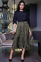Легкая плиссированная юбка на подкладе 1476 (40–46р) в расцветка, фото 1
