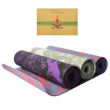 Йога мат MS 2138 183-61-0,6 см килимок для йоги та фітнесу, фото 2