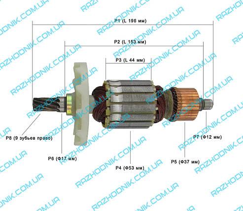 Якорь на отбойный молоток Powertec PT 1308, фото 2