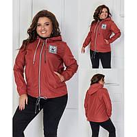 Куртка ветровка женская короткая батал 473166 р 48-62