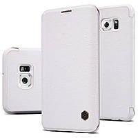 Кожаный чехол Nillkin Qin для Samsung Galaxy S6 Edge PLUS белый