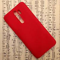 Силиконовый матовый чехол SMTT Candy для Xiaomi Redmi Note 8 Pro (Красный)