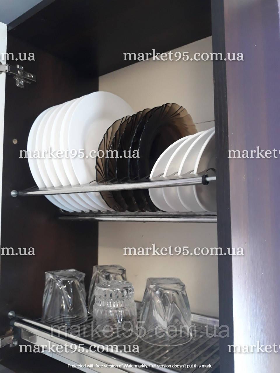 Сушарка для посуду у шафу з нержавіючої сталі 400мм
