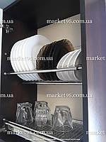 Сушарка для посуду у шафу з нержавіючої сталі 400мм, фото 1