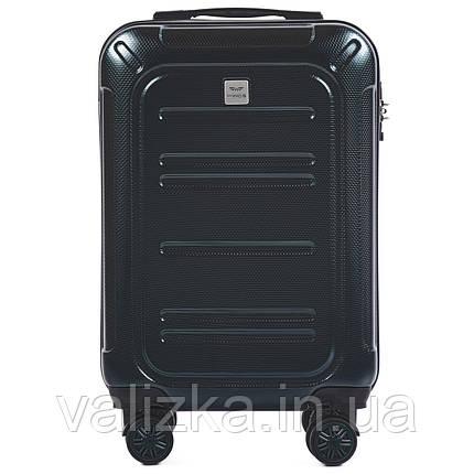 Малый чемодан из поликарбоната премиум серии для ручной клади темно-зеленый Wings 175, фото 2
