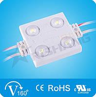 LED модуль с линзой RISHANG SMD2835 1,44W 4Led 12V (IP65) 6000K White
