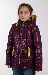 Куртки для девочек весенние интернет магазин   34-44  бордовый