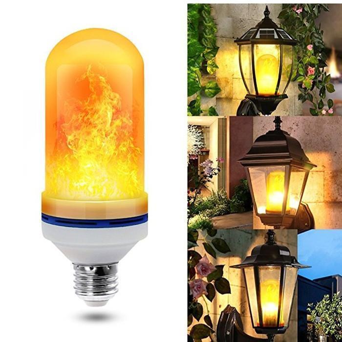 LED Лампа с эффектом пламени огня Flame Bulb New А, лампа з ефектом полум'я вогню, Светильники для дома