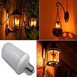 LED Лампа с эффектом пламени огня Flame Bulb New А, лампа з ефектом полум'я вогню, Светильники для дома , фото 3