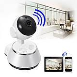 Поворотная IP камера видеонаблюдения Wireless Smart WiFi Camera 360, Поворотна IP камера відеоспостереження, фото 2