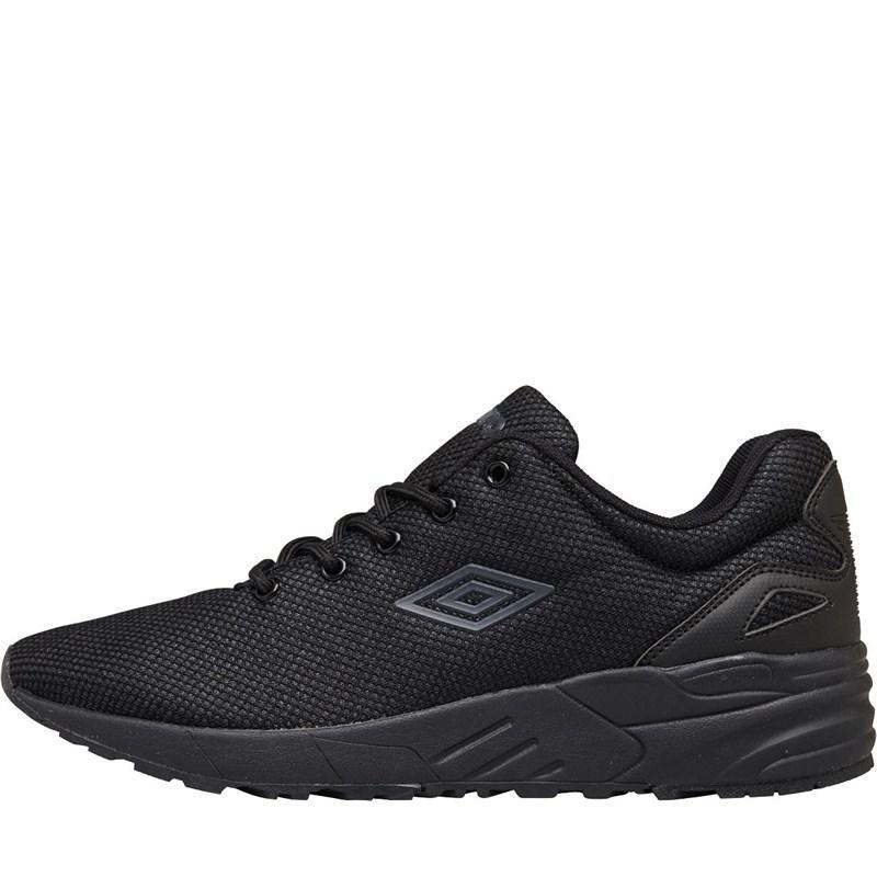 Фирменные мужские черные кроссовки на черной подошве Umbro C Tech umfm0194