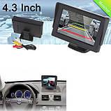 Дисплей LCD 4.3'' JL403HR для камеры заднего вида, Монитор для автомобиля, Экран в машину, Монитор автомобильный для камеры, фото 2