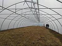 Оцинкованные зимние теплицы для бизнеса с наддувом и верхним проветриванием 10х50 м