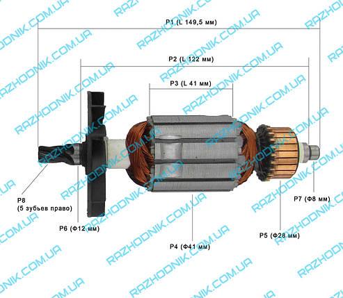 Якорь на перфоратор Edon ZIC-26A, фото 2