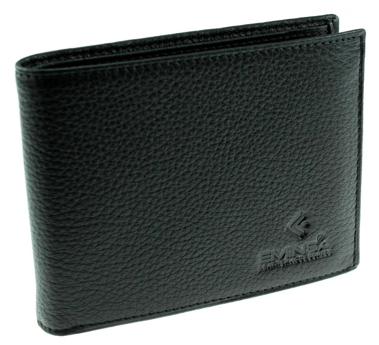 Мужское портмоне Eminsa 1014-17-1 кожаное черное