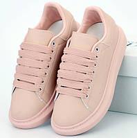 Женские кроссовки Alexander McQueen Pink 1в1 Как Оригинал! ТОП (ААА+)