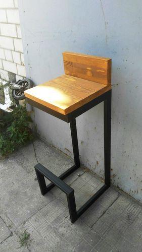 Барный стул LOFT со спинкой 75 см (30*30 см)
