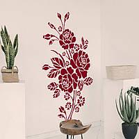 Трафарет цветы розы на стену в гостиную, спальню